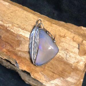 Jewelry - Navajo Sterling & Opalite Pendant